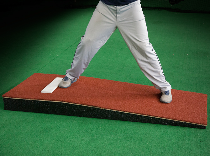 Practice Pitching Mound : Junior Mound with Clay Artificial Turf